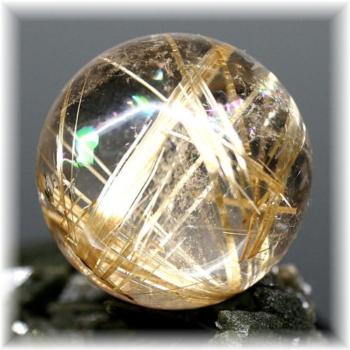 高品質ゴールドルチルクォーツ スフィア[25.2mm](GOLDRUTILE-SPHERE20155)