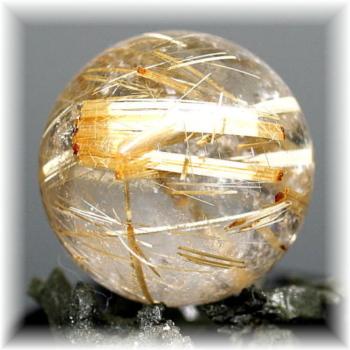 ブラジル産高品質ゴールドルチル丸玉(GOLDRUTILE-SPHERE20156)