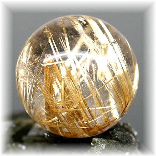 ブラジル産高品質ゴールドルチル丸玉(GOLDRUTILE-SPHERE20157)