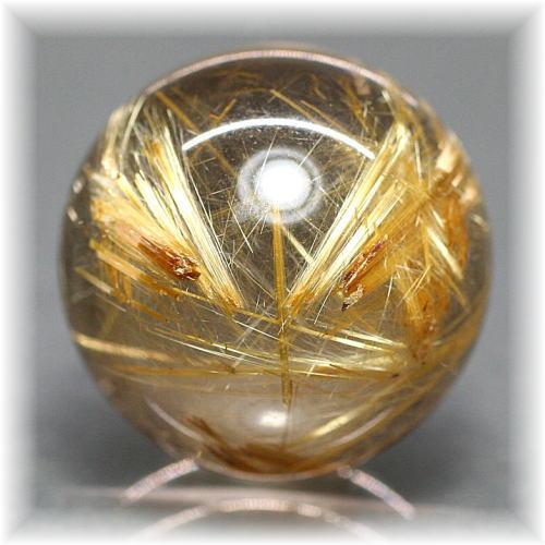 ブラジル産高品質ゴールドルチル丸玉(GOLDRUTILE-SPHERE2410)
