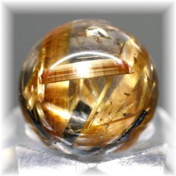 ブラジル産高品質ゴールドルチル丸玉(GOLDRUTILE-SPHERE711IS)