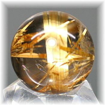 高品質ゴールドルチルクォーツ スフィア(GOLDRUTILE-SPHERE717IS)
