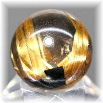 高品質ゴールドルチルクォーツ スフィア(GOLDRUTILE-SPHERE718IS)