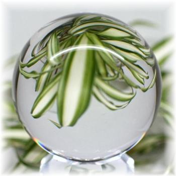 [ブラジル産]天然無垢本水晶 丸玉(台座付き)(HQ-CRYSTALSPHERE504IS)