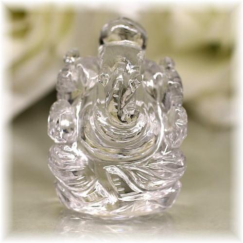 インド産ヒマラヤ水晶ガネーシャ神像(INDIA-GANEZA102)