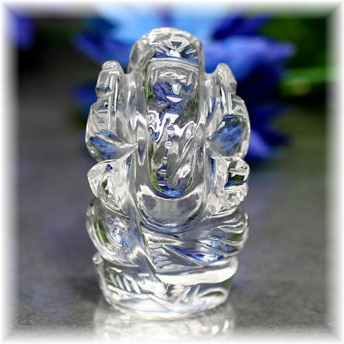 インド産ヒマラヤ水晶ガネーシャ神像(INDIA-GANEZA301IS)