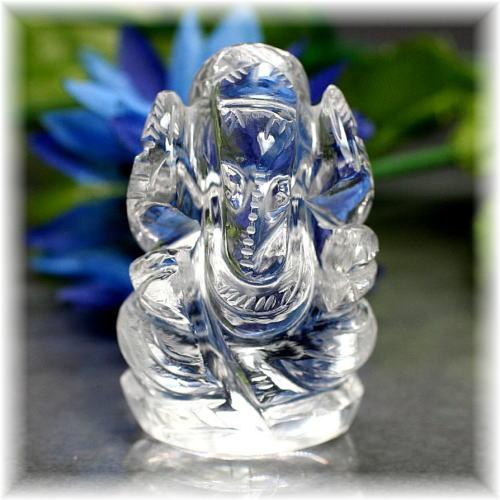 インド産ヒマラヤ水晶ガネーシャ神像(INDIA-GANEZA305IS)