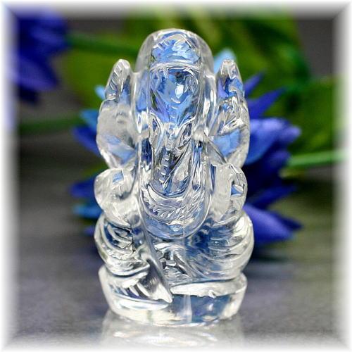 インド産ヒマラヤ水晶ガネーシャ神像(INDIA-GANEZA306IS)