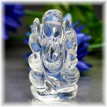 インド産ヒマラヤ水晶ガネーシャ神像(INDIA-GANEZA308IS)