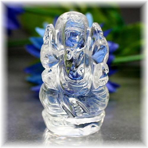 インド産ヒマラヤ水晶ガネーシャ神像
