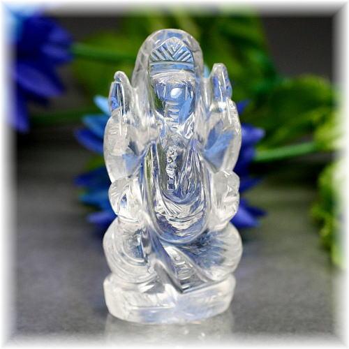 インド産ヒマラヤ水晶ガネーシャ神像(INDIA-GANEZA310IS)