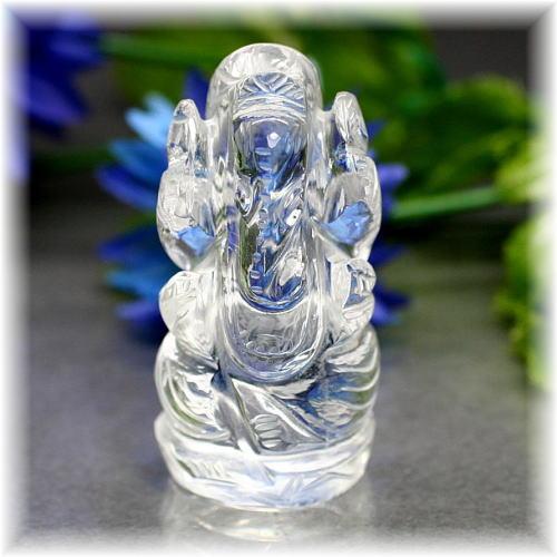 インド産ヒマラヤ水晶ガネーシャ神像(INDIA-GANEZA311IS)