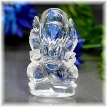 インド産ヒマラヤ水晶ガネーシャ神像(INDIA-GANEZA312IS)