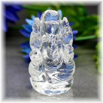 インド産ヒマラヤ水晶ガネーシャ神像(INDIA-GANEZA313IS)