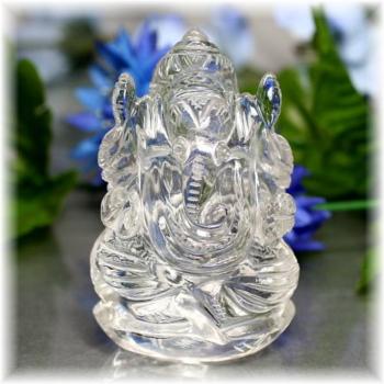 インド産ヒマラヤ水晶ガネーシャ神像(INDIA-GANEZA504IS)