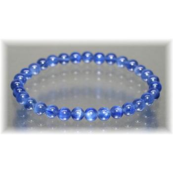 最高品質カイヤナイト約6mm玉ブレスレット(KYANITE-BR0602IS)
