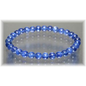 最高品質カイヤナイト約6ミリ玉ブレスレット(KYANITE-BR0603IS)