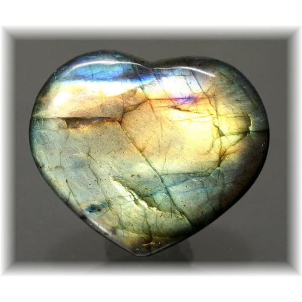 マダガスカル産ラブラドライト ハートシェイプ(LABRADORITE-HEART504IS)
