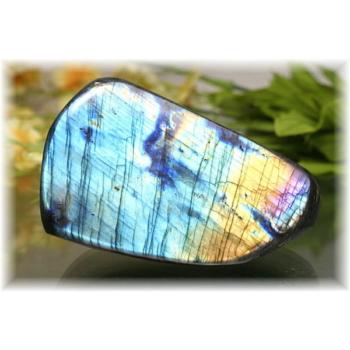 マダガスカル産ラブラドライト磨き原石/置物(LABRADORITE-PPRAF0477IS)