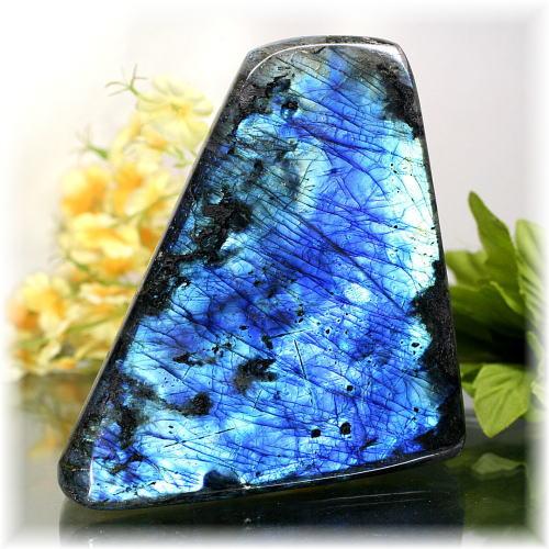 マダガスカル産ラブラドライト磨き原石/置物(LABRADORITE-PPRAF1376IS)