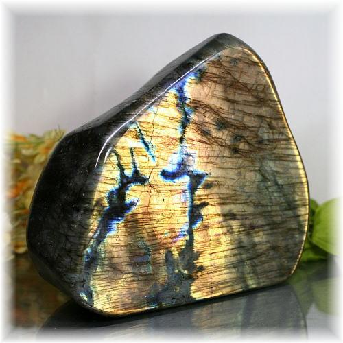 マダガスカル産ラブラドライト磨き原石/置物(LABRADORITE-PPRAF1810IS)