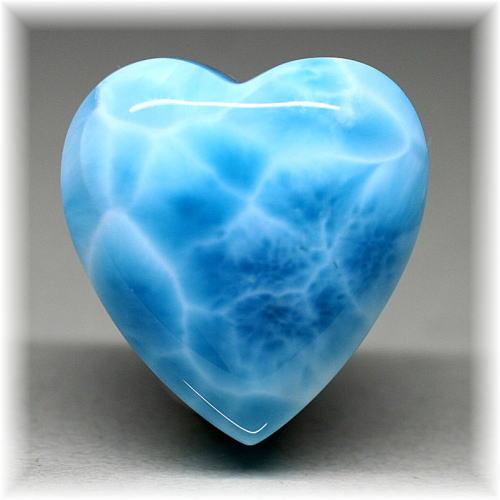 ドミニカ産ジェムグレード ラリマーハートシェイプ(LAIRIMAR-HEART702IS)
