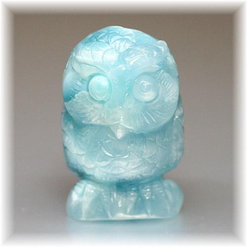 ラリマーフクロウ/不苦労 彫刻品(LARIMAR-OWL101IS)