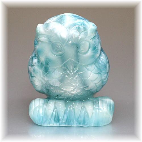 高品質ラリマー フクロウ/不苦労    彫刻品(LARIMAR-OWL106IS)