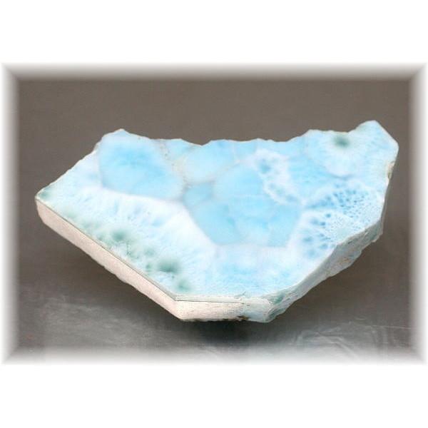 ドミニカ産 ラリマー スライス原石(LAIRIMAR-SR110)