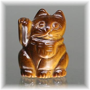 天然石タイガーアイ招き猫(MANEKINEKO-TIGER101IS)