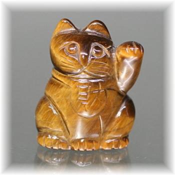 天然石タイガーアイ招き猫(MANEKINEKO-TIGER102IS)