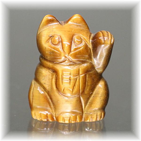天然石タイガーアイ招き猫(MANEKINEKO-TIGER502IS)