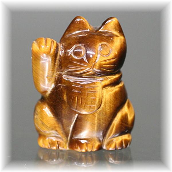 天然石タイガーアイ招き猫(MANEKINEKO-TIGER701IS)