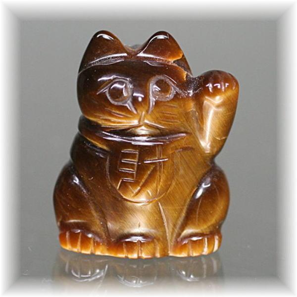 天然石タイガーアイ招き猫(MANEKINEKO-TIGER702IS)