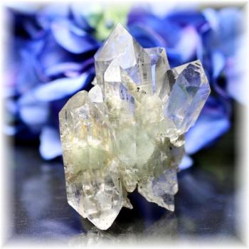 インド・マニハール産ヒマラヤ水晶クラスター<ダブルポイント>(MANIHAAR-CL001IS)