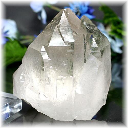 インド・マニハール産ヒマラヤ水晶クラスター(MANIHAAR-QUARTZ8890IS)