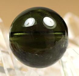 高品質天然モルダバイト 10リ玉 粒販売(MOLDA-10MM-IS02)
