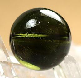 高品質天然モルダバイト 10.5リ玉 粒販売(MOLDA-10MM-IS03)