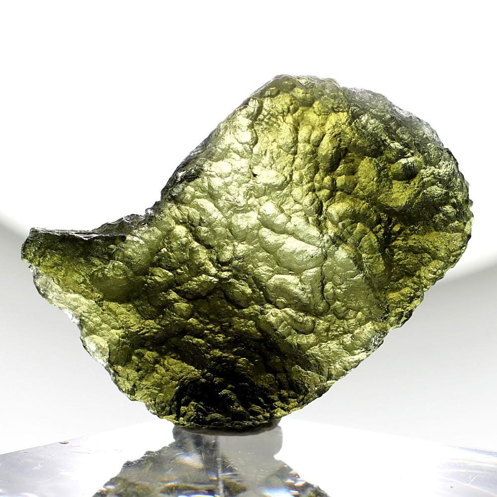 [高品質・チェコ共和国産]天然モルダバイト原石(10.0g)