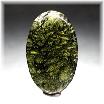 天然モルダバイト ヘキサグラム(MOLDAVITE-LSIS113)