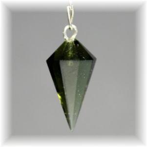 チェコ共和国産天然石モルダバイト ペンデュラム(MOLDAVITE-PENDULUM111)