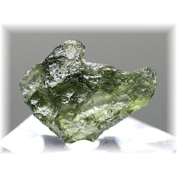 チェコ共和国産天然モルダバイト原石(MOLDAVITE-RAF56IS)
