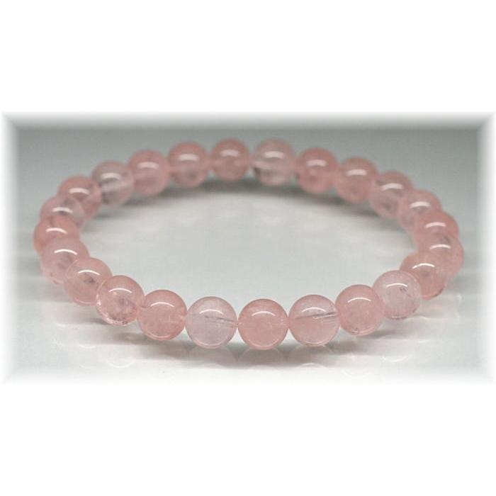 3A++ピンクオレンジモルガナイト約8ミリ玉ブレスレット(MORGANITE-PV0806IS)