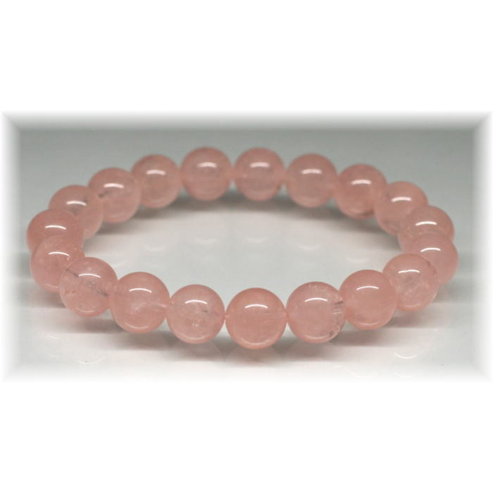 3A++ピンクオレンジモルガナイト約10ミリ玉ブレスレット(MORGANITE-PV1006IS)