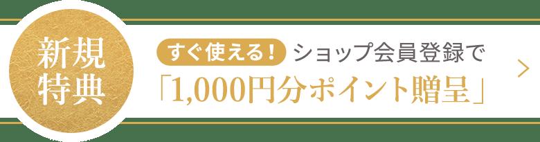 1,000円分ポイント会員特典(2分割 PC)