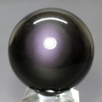 [メキシコ産]レインボーオブシディアン丸玉 /黒曜石スフィア(51.0mm)