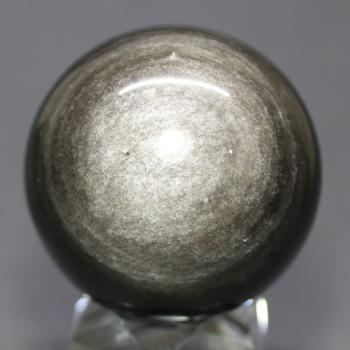 [メキシコ産]シルバーゴールドオブシディアン丸玉 /黒曜石スフィア(49.2mm)