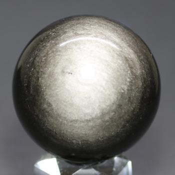 [メキシコ産]シルバーゴールドオブシディアン丸玉 /黒曜石スフィア(54.1mm)