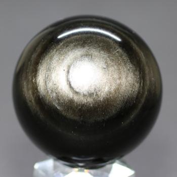 [メキシコ産]シルバーゴールドオブシディアン丸玉 /黒曜石スフィア(54.0mm)