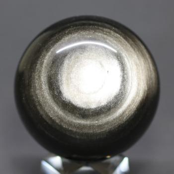 [メキシコ産]シルバーゴールドオブシディアン丸玉 /黒曜石スフィア(60.1mm)